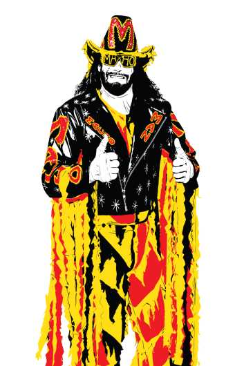 Macho Man Randy Savage - White Background from the Everything collection by Dropkickers
