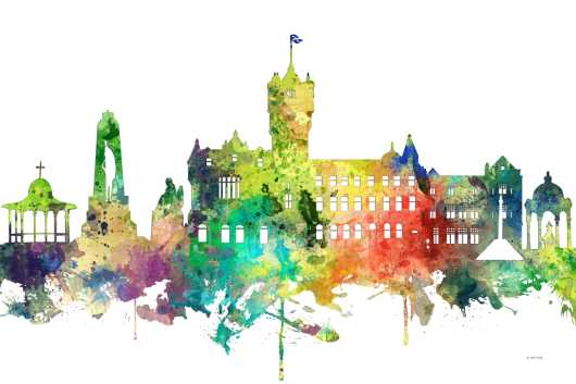 Rutherglen, Scotland from the Rest of World Skylines collection by Marlene Watson Art