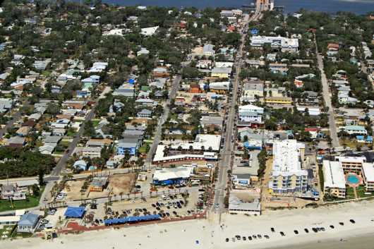 Flagler Ave I, NSB from the Aerial New Smyrna Beach collection by Russell C Tucker