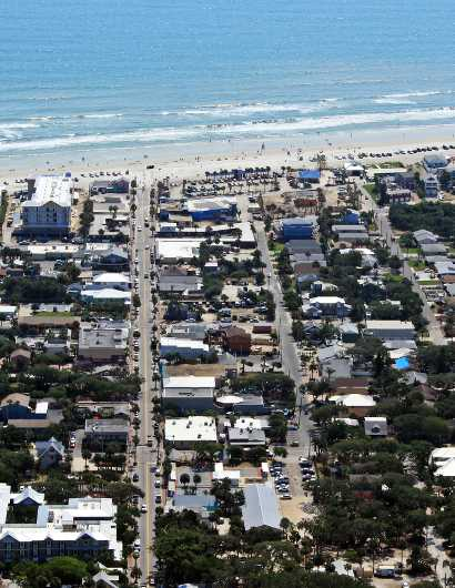 Flagler Ave IV, NSB from the Aerial New Smyrna Beach collection by Russell C Tucker