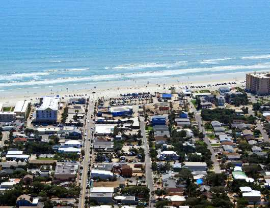 Flagler Ave V, NSB from the Aerial New Smyrna Beach collection by Russell C Tucker