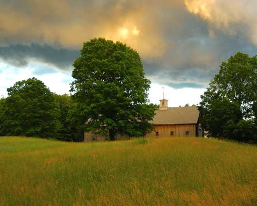 Long Barn under Summer Sky - 2 from the Barns collection by jndphoto
