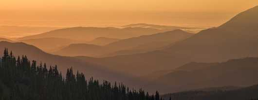 morning glow from a mountain top from the Landscapes collection by Richard Milligan