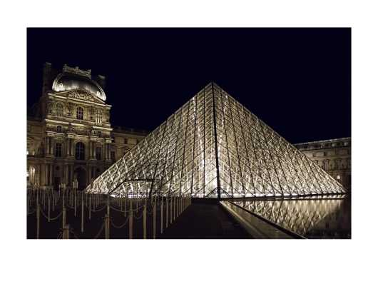 Louvre at Night. Best on a metallic paper or canvas. from the Digital Art collection by Ladee K Rickard