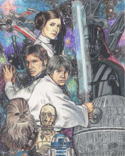 A New Hope from the Prints collection by Arielle Shaina Art