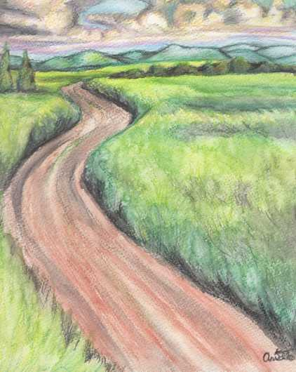 Road Less Traveled By from the Prints collection by Arielle Shaina Art