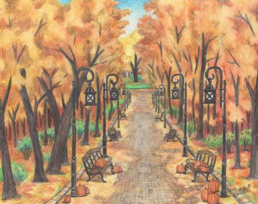 Pumpkin Path from the Prints collection by Arielle Shaina Art