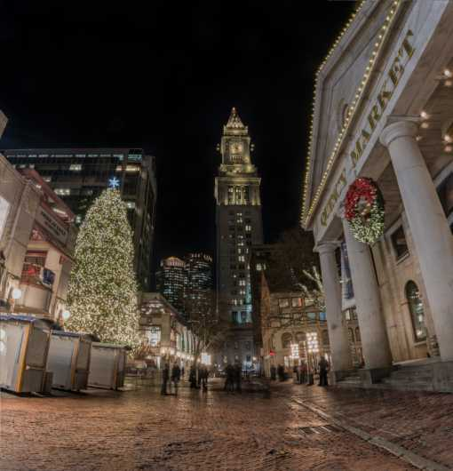 Quincy Market Holiday from the City Scapes collection by TJ Walsh Photography