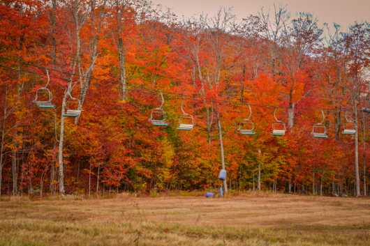 Ski Mountain Foliage from the Landscapes collection by TJ Walsh Photography