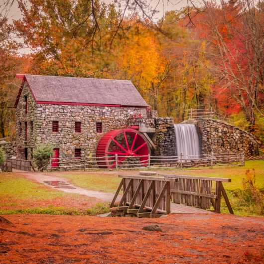 Wayside Grist Mill from the Landscapes collection by TJ Walsh Photography