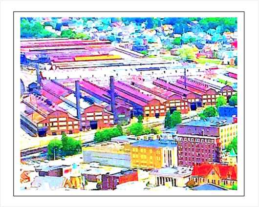 Mill Town Print Format from the Johnstown Area Photos collection by KWelsh Frameworks