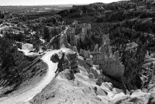 Bryce Canyon 11 Black and White from the Landscapes collection by Coty Montroy