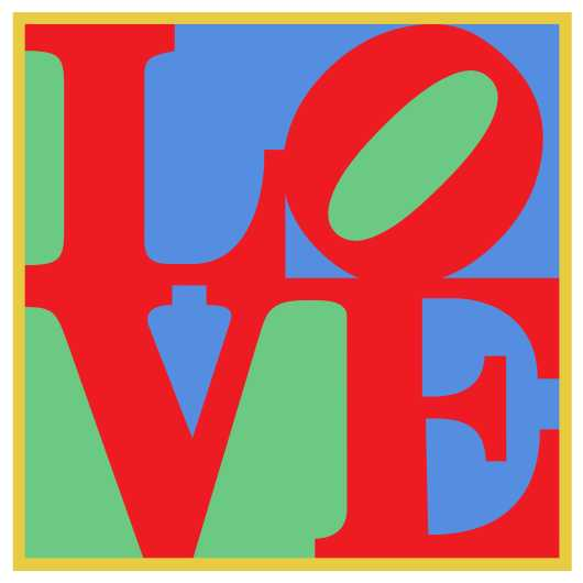 LOVE Poster Classic Robert Indiana from the Astropixel NYC collection by MyHouseCulture.com