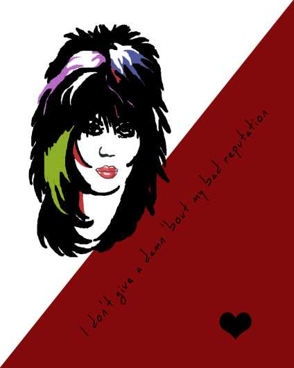 Bad Reputation | Joan Jett Inspired Art Print from the Lyric Art Prints collection by Lyrical Perceptions