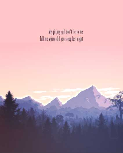 In The Pines | Nirvana Inspired Art Print from the Lyric Art Prints collection by Lyrical Perceptions