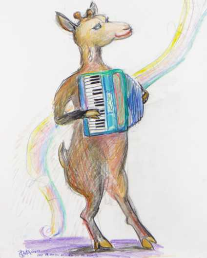 Music Accordion to Goats from the Nurture Absurdity collection by Brita DeRemee Taracks