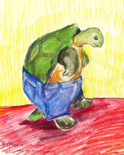Turtlepants from the Nurture Absurdity collection by Brita DeRemee Taracks