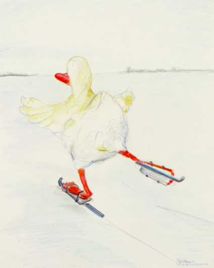 Cold Duck on Ice from the Nurture Absurdity collection by Brita DeRemee Taracks