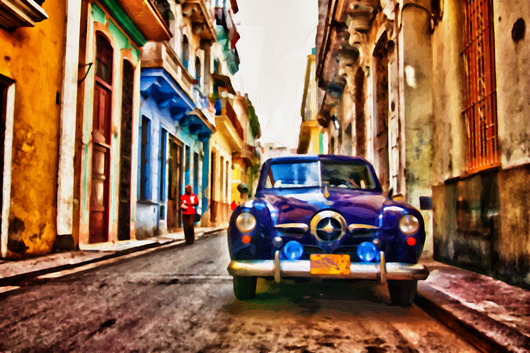 cuba_street_1_paint.jpg from the CityScapes  collection by Burton Hadfield