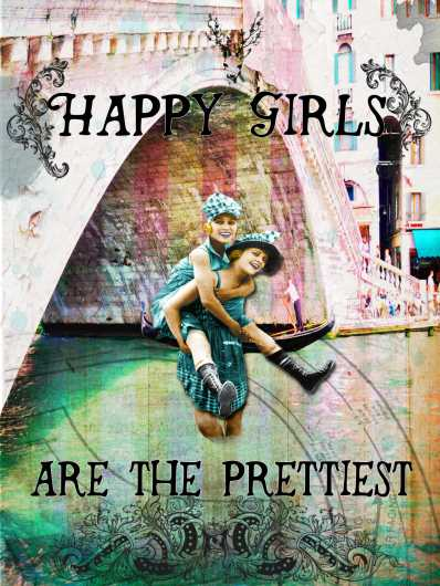 Happy Girls from the Andrea M Design Art Prints collection by Andrea M Designs