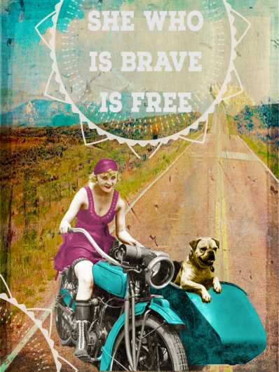 She Who Is Brave from the Andrea M Design Art Prints collection by Andrea M Designs