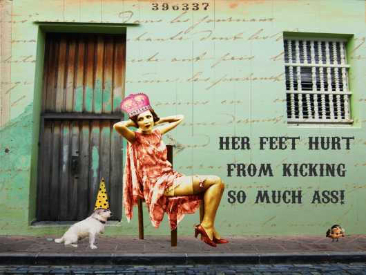 Her Feet Hurt from the Andrea M Design Art Prints collection by Andrea M Designs