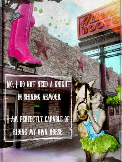 I Can Ride My Own Horse from the Andrea M Design Art Prints collection by Andrea M Designs