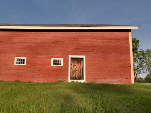 Red Barn Against Blue Sky from the Barns collection by jndphoto