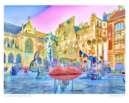 Stravinsky Fountain Paris_2_16x20 Use Premium Matte Photo Paper from the Paris Art Prints collection by Ladee K Rickard