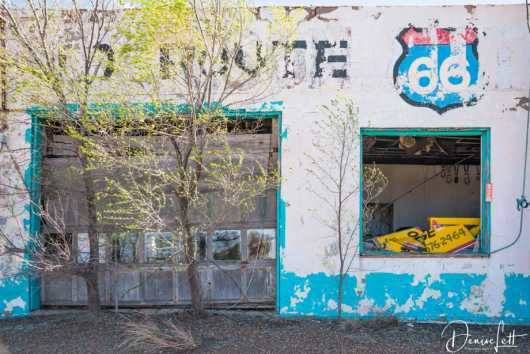 16 Abandoned Auto Parts Store Route 66 San Jon New Mexico from the Route 66 collection by Denise Lett