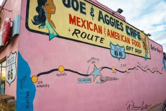 28 Mother Road Map Mural Joe & Aggies Cafe Route 66 Holbrook Arizona from the Route 66 collection by Denise Lett
