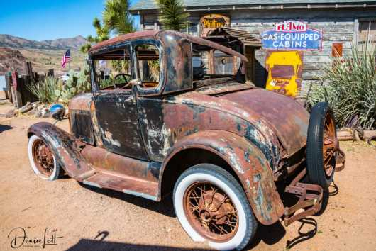 27 Antique Car Hackberry General Store Route 66 Kingman Arizona  from the Route 66 collection by Denise Lett