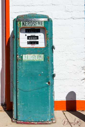 29 Antique Kerosene Pump Pete's Gas Station Museum Route 66 Williams Arizona from the Route 66 collection by Denise Lett