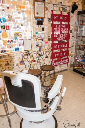 23 Angel Delgadillo's Barber Chair Route 66 Seligman Arizona from the Route 66 collection by Denise Lett