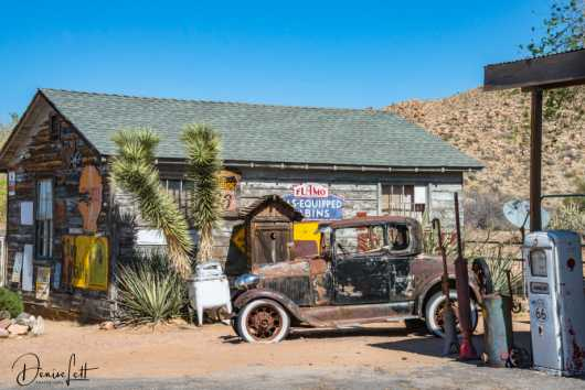 26 Antique Car & Cabin Hackberry General Store Route 66 Kingman Arizona from the Route 66 collection by Denise Lett