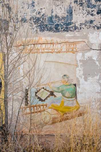 53 Bowlin,s Trading Post Mural Woman Weaving New Mexico Route 66 from the Route 66 collection by Denise Lett