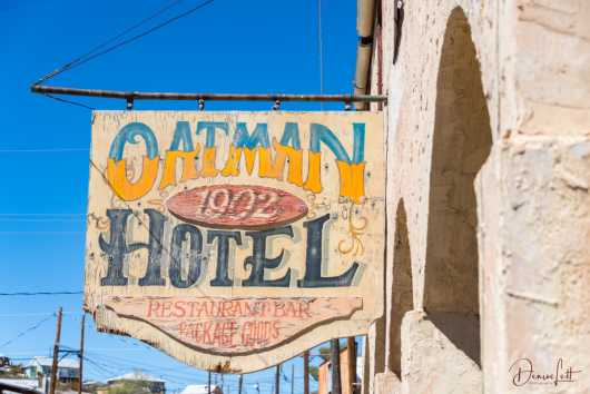 79 Oatman Hotel Sign Oatman Arizona Route 66 from the Route 66 collection by Denise Lett