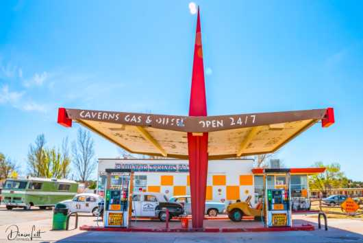 85 Radiator Springs Gas Station Grand Canyon Caverns Arizona Route 66 from the Route 66 collection by Denise Lett