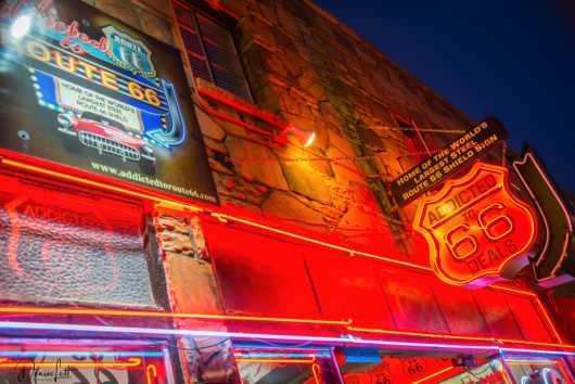 50 Addicted to 66 Deals Neon Sign Williams Arizona Route 66 from the Route 66 collection by Denise Lett
