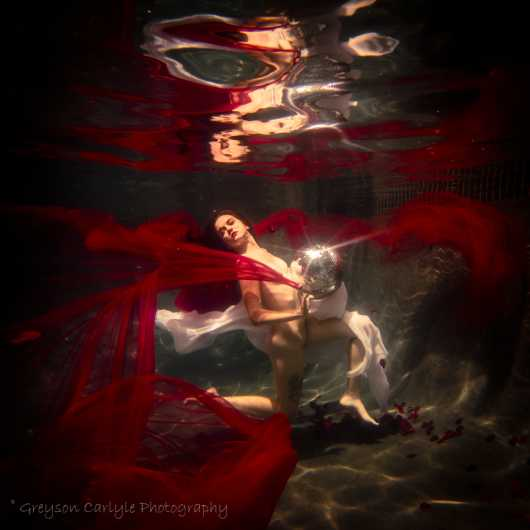 Crimson Disco from the Underwater collection by Greyson Carlyle
