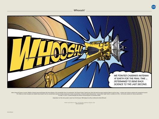 NASA Cassini Whoosh Poster from the Astropixel NYC collection by MyHouseCulture.com