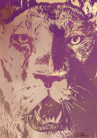 lionpurp.jpg from the Wildlife collection by Fiore Corva
