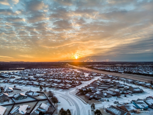Snow Sunrise 2 from the DDronegraphy Website Uploads collection by Damon's Droneography