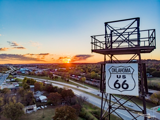 Route 66 Sunset from the DDronegraphy Website Uploads collection by Damon's Droneography