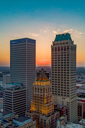 Tulsa-Sunset-3.jpg from the Downtown Tulsa collection by Damon's Droneography