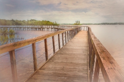 Galena Boardwalk from the Places collection by Steve Kelley