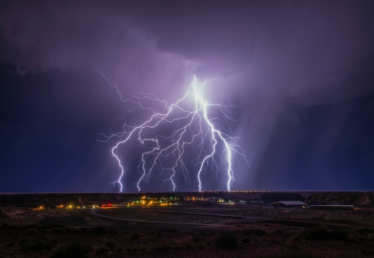 Multiple Lightning Strikes over Arizona Desert from the Gallery collection by Alex McClure