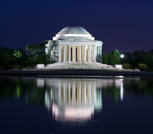 Jefferson Memorial Lit Up at Night from the Gallery collection by Alex McClure
