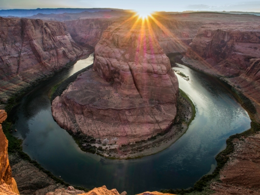 Horseshoe Bend at Sunrise on Grand Canyon from the Gallery collection by Alex McClure