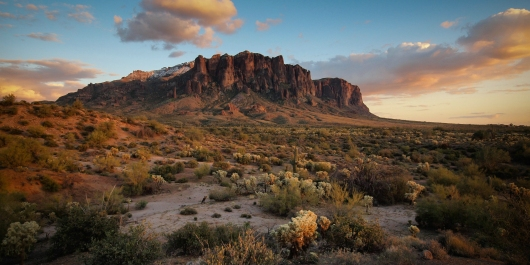 Superstition Mountain Sunrise from the Gallery collection by Alex McClure